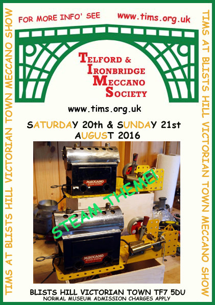 TIMS at Blists Hill Victorian Town Meccano Show 2016